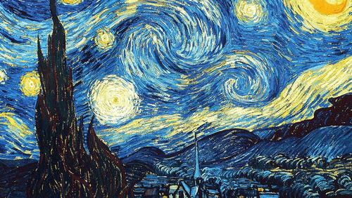 A Noite Estrelada - Vicent Van Gogh