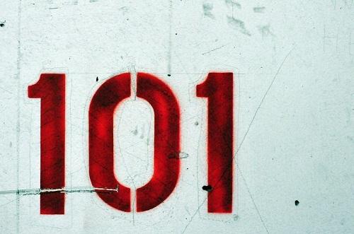 Fundo com os digitos 101